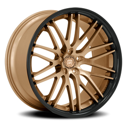 Lexani Wheels R-Twenty - Satin Bronze w/Gloss Black SS Lip