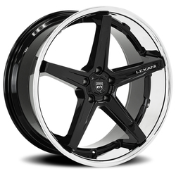 Lexani Wheels Savage - Gloss Black w/SS Lip