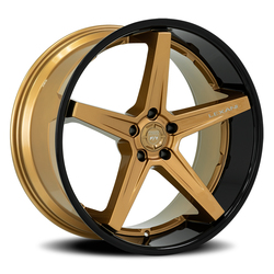 Lexani Wheels Savage - Satin Bronze / Gloss Black Lip