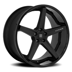 Lexani Wheels Savage - Satin Black with Gloss Lip