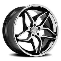 Lexani Wheels Spyder - Black/Machined Face w/SS Lip