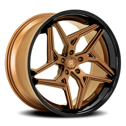 Lexani Wheels Spyder - Satin Bronze w/Gloss Black SS Lip