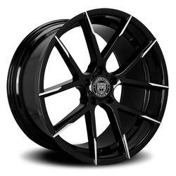 Lexani Wheels Stuttgart - Blk w/Machined Tips - 22x11