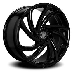Lexani Wheels Twister - Gloss Black Rim - 26x10