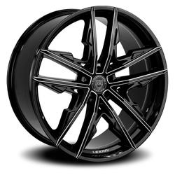 Lexani Wheels Venom - Black w/CNC Groove Rim - 24x9