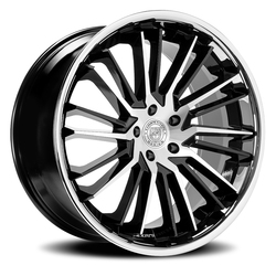 Lexani Wheels Virage - Gloss Black / Brushed Face w/SS Lip