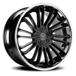 Lexani Wheels Virage - Gloss Black w/SS Lip