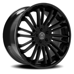 Lexani Wheels Virage - Satin Black Face w/Gloss Black Lip