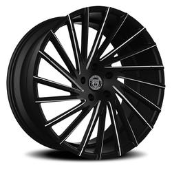 Lexani Wheels Wraith - Blk w/CNC Groove Rim - 26x10
