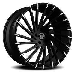 Lexani Wheels Wraith - Blk w/Machined Tips Rim - 26x10