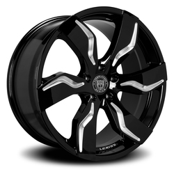 Lexani Wheels Zagato - Blk w/CNC Groove Rim