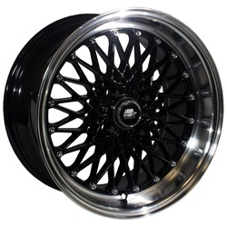 MST Wheels MT16 - Black w/Machined Lip Rim