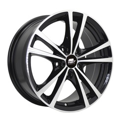 MST Wheels Saber - Glossy Black w/Machined Face - 14x6