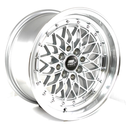 MST Wheels MT36 - Silver w/Machined Lip