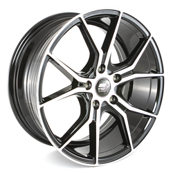 MST Wheels MT37 - Black w/Machined Face