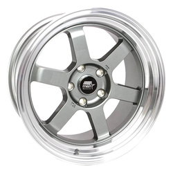 MST Wheels Time Attack - Gunmetal w/Machined Lip