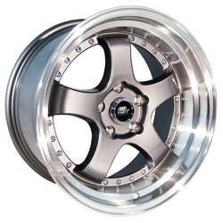 MST Wheels MT07 - Gunmetal w/Machined Lip