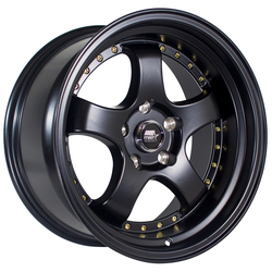 MST Wheels MT07 - Matte Black w/Gold Rivets Rim
