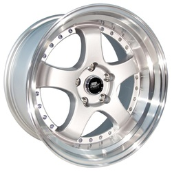 MST Wheels MT07 - Silver w/Machined Lip Rim
