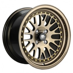 MST Wheels MT10 - Bronze with Gold Rivets Rim - 15x8