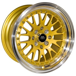 MST Wheels MT10 - Gold w/Machined Lip Rim