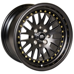 MST Wheels MT10 - Matte Black w/Gold Rivets