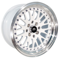 MST Wheels MT10 - White w/Machined Lip Rim