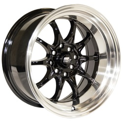 MST Wheels MT11 - Black w/Machined Lip Rim