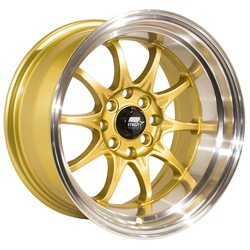 MST Wheels MT11 - Gold w/Machined Lip Rim