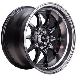 MST Wheels MT11 - Matte Black w/Matte Black Lip