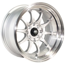 MST Wheels MT11 - Silver w/Machined Lip
