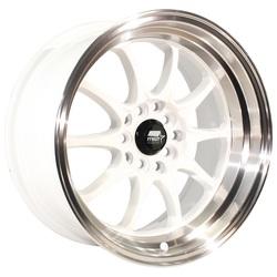 MST Wheels MT11 - White w/Machined Lip Rim