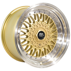 MST Wheels MT13 - Gold w/Machined Lip Rim