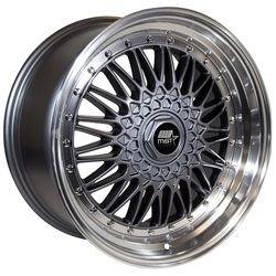 MST Wheels MT13 - Gunmetal w/Machined Lip