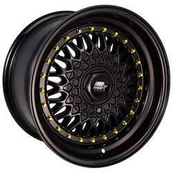 MST Wheels MT13 - Matte Black w/Gold Rivets