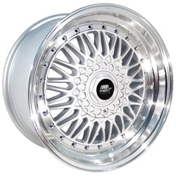 MST Wheels MT13 - Silver w/Machined Lip