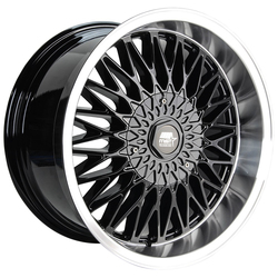 MST Wheels MT14 - Black w/Machined Lip Rim