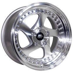 MST Wheels MT15 - Silver w/Machined Face