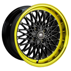MST Wheels MT16 - Black w/Machined Gold Lip Rim