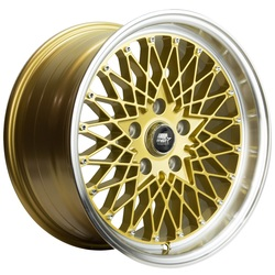 MST Wheels MT16 - Gold w/Machined Lip