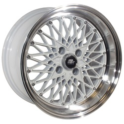 MST Wheels MT16 - White w/Machined Lip