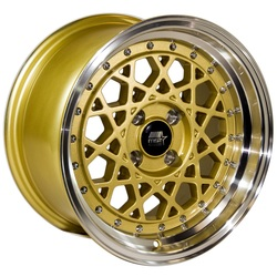 MST Wheels Fiori - Gold w/Machined Lip Rim