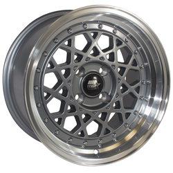 MST Wheels Fiori - Gunmetal w/Machined Lip Rim