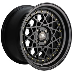 MST Wheels Fiori - Matte Black w/Gold Rivets Rim