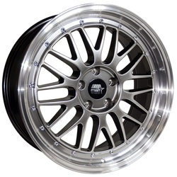 MST Wheels LeMan - Hyper Black w/Machined Lip Rim