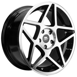 MST Wheels MT26 - Glossy Black w/Machined Face