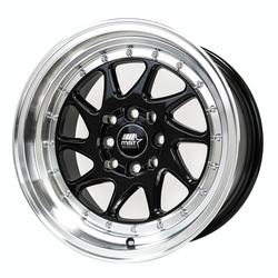 MST Wheels MT28 - Black Machined Rim