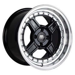 MST Wheels Kunai - Black w/Machined Lip