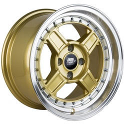 MST Wheels Kunai - Gold w/Machined Lip Rim