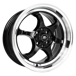 MST Wheels MT39 - Black w/Machined Lip Rim